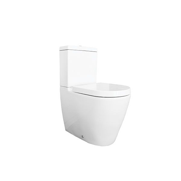 Verdi Metis White Toilet, Seat And Bottom Entry Water Supply