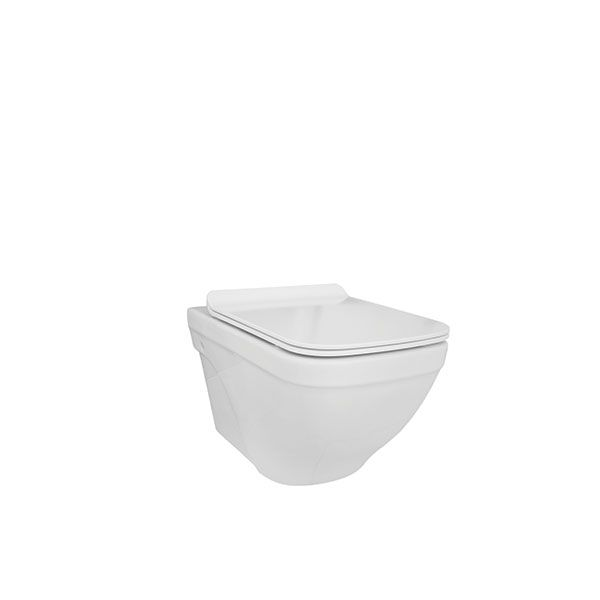 Verdi Conquest White Wall Hung Toilet And Seat Excluding Cistern