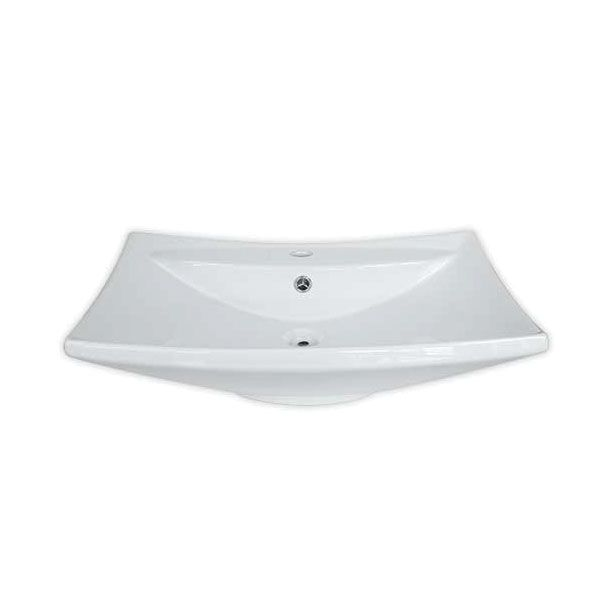 Cortina White Rectangular Counter Top Basin With Tap Hole 600 x 450 x 170mm