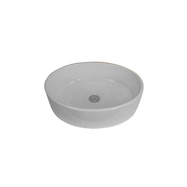 Granada White Oval Counter Top Basin Without Tap Hole 515 x 410 x 140mm