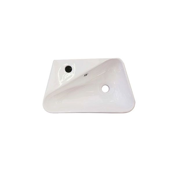 Madrid White Wall Hung Basin With Tap Hole 450 x 280 x 155mm