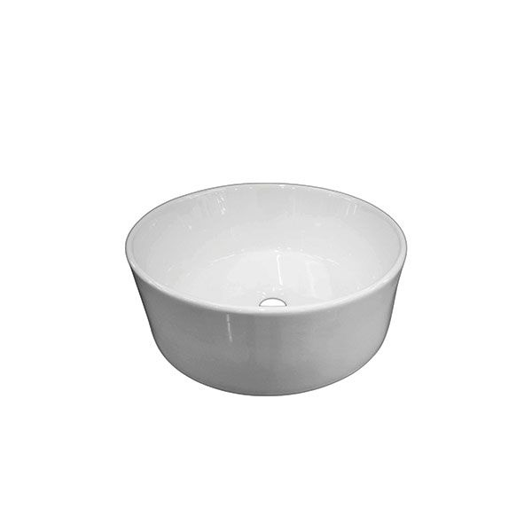 Porto White Round Counter Top Basin Without Tap Hole 410 x 150mm