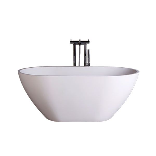 Dado Rosella White Matt Quartz Freestanding Bath 1530 x 800 x 590mm