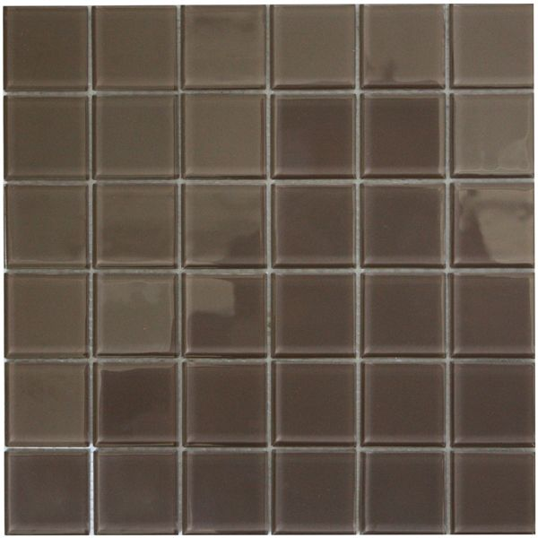 Mocha Polished Glass Mosaic 300 x 300mm
