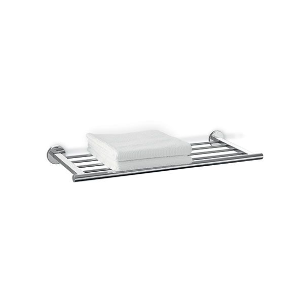 Zack Scala Polished Stainless Steel Towel Shelf 660 x 241 x 60mm