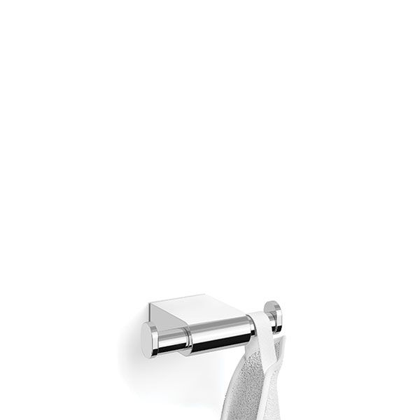 Zack Atore Polished Stainless Steel Double Towel Hook 38 x 90 x 120mm