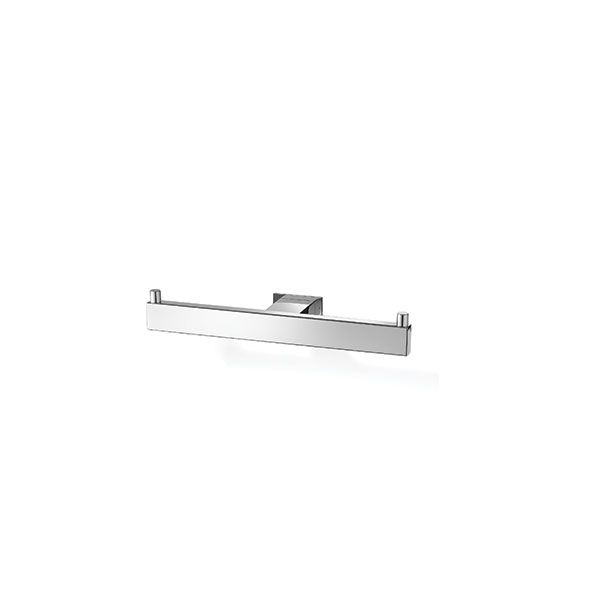 Zack Linea Polished Stainless Steel Double Toilet Roll Holder