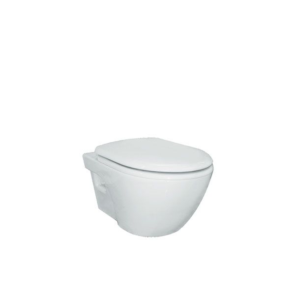 Cotto Unique White Wall Hung Toilet and Soft Close Seat