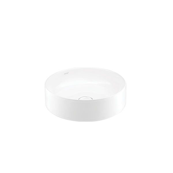 Cotto Sensation Round White Counter Top Basin Without Tap Hole 405 x 405 x 110mm