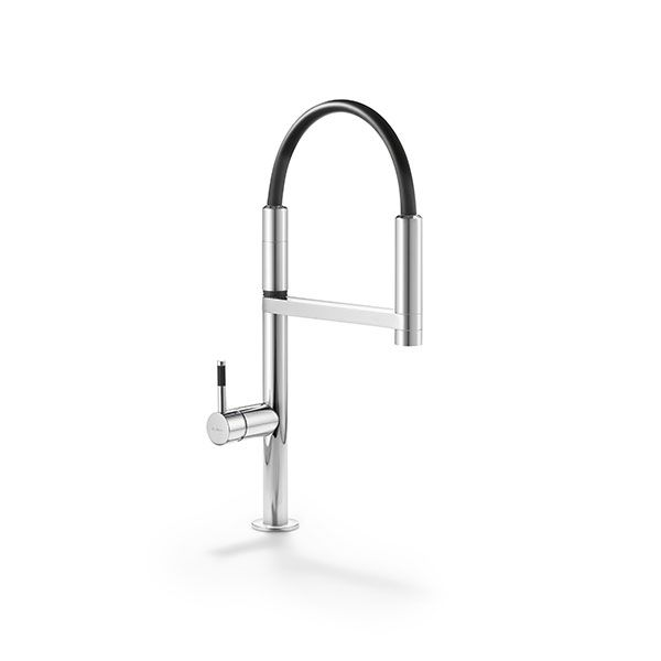 Move Sink Mixer With Black Hose