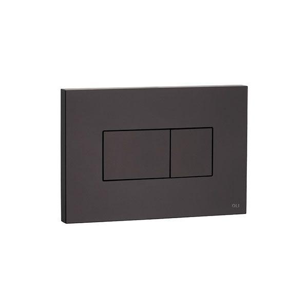 Karisma Black Dual Flush Plate And Pneumatic Kit