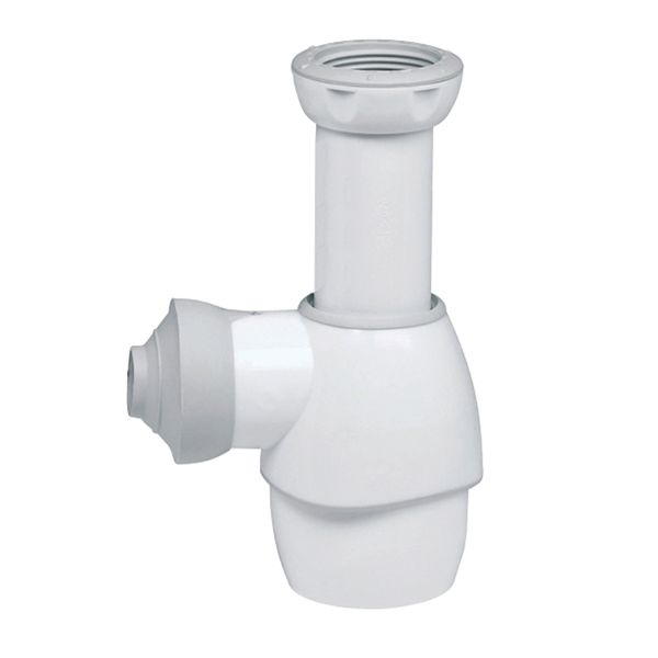 Wirquin All In One White Universal Bottle Trap With 32 And 40Mm Outlet